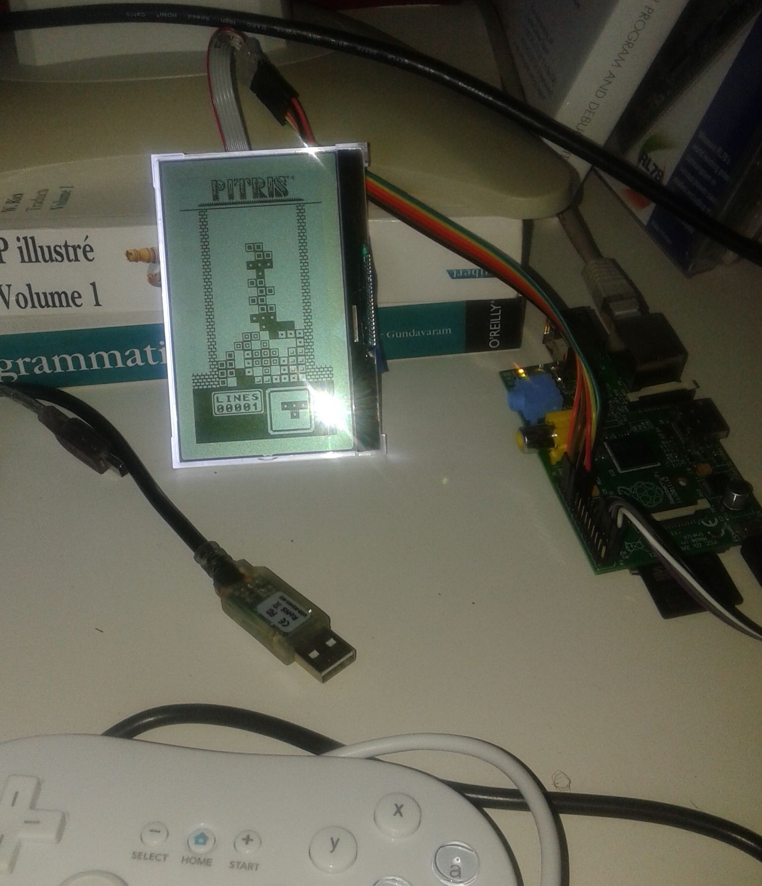 a little Tetris clone using SPI LCD and i2c Controller - Raspberry